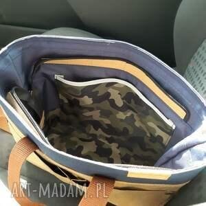 snap pap na ramię beżowe torebka pap