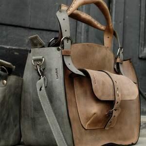 brązowe na ramię kuferek-skórzany torebka torba kuferek ręcznie