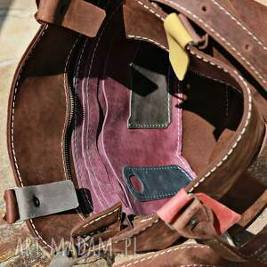 czarne na ramię torba-skórzana torebka torba ręcznie robiona