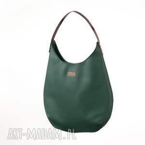 unikatowe na ramię torba worek zieleń z bordo