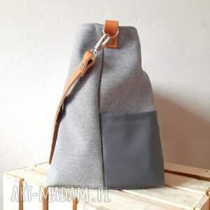 wiosenna na ramię torebka uszyta z tkaniny home deco, o grubym
