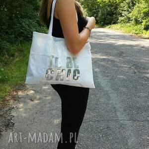 Gabiell białe na ramię torba torebka z białego jeansu ozdobiona