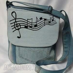 niebieskie na ramię torba torebka z jasnego jeansu