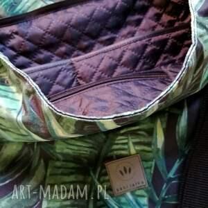 czarne na ramię torebka na tropical hobo torba welurowa