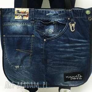 jeans na ramię duża torba upcykling 10