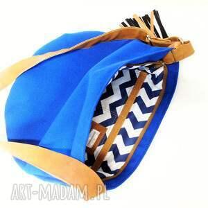 niebieskie na ramię worek long hobo