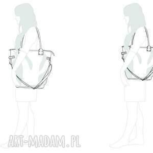 intrygujące na ramię pojemna-torba torba damska worek city oliwkowa