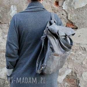 plecak na ramię 3w1 plecako - torba szary vegan