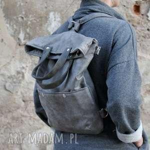 szare na ramię torba 3w1 plecako - szary vegan