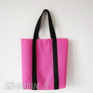 różowe na ramię weekend bag