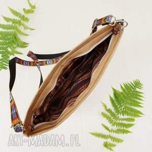 czarne na ramię haft wegańska listonoszka z haftem