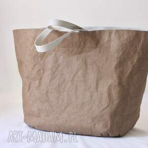 washpapa na ramię brązowe wegańska torba xxxl
