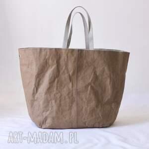 szare na ramię wegańska torba xxxl