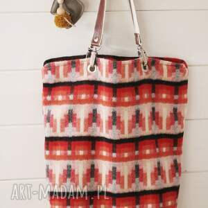niepowtarzalne na ramię torebka wełniana torba