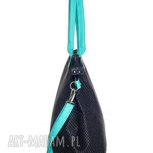 na ramię worek xl #black&aquamarine