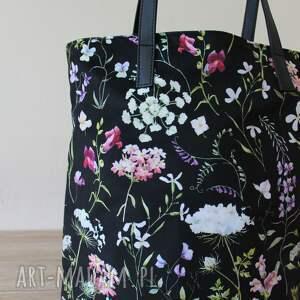 efektowne elegancka worek hobo - polne kwiaty