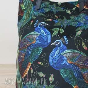 niebieskie na ramię nowoczesna worek hobo - pawie