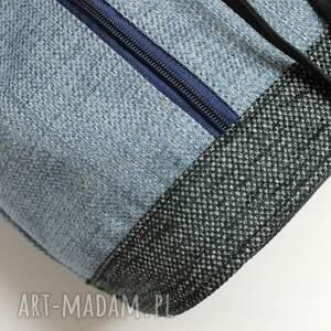 szare na ramię sack worek sakiewka - plecionka