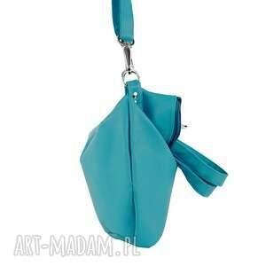 hand-made na ramię zakupy worek small sea turq