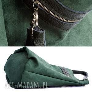 na ramię worek zielony