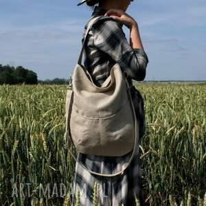 torba na ramię workówka vegan len
