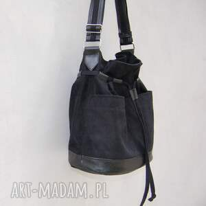 559da4ab19fac czarne na ramię listonoszka yocca - torba worek czarna