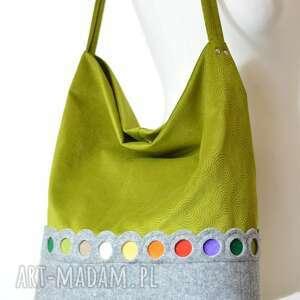 torba na ramię zielona hobo