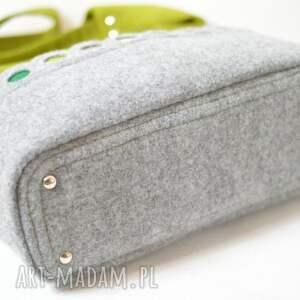 gustowne na ramię torba zielona hobo