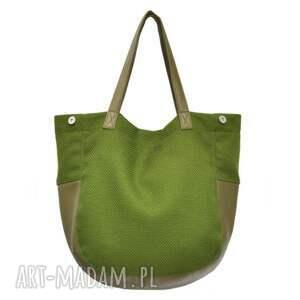 oryginalne na ramię torebki-damskie 24-0009 zielona torebka damska
