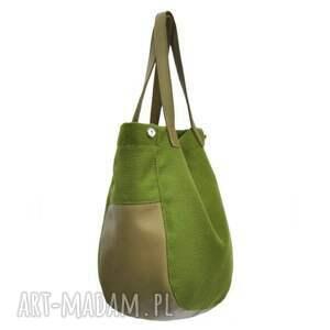 na ramię torebka-na-ramię 24-0009 zielona torebka damska