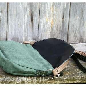 zielone na ramię torebka zielona z klapą i frędzlem