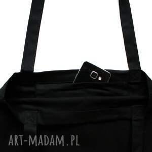 torba na ramię czarna na z hasłem