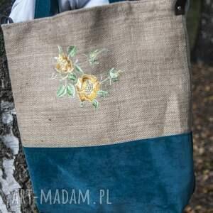 handmade torba jutowa, siatka na zakupy