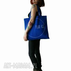 na zakupy bawełniana niebieska torba