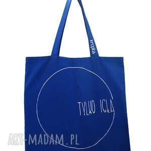 niebieskie na zakupy bawełniana niebieska torba