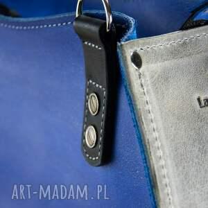 torba podróżna niebieskie oryginalna torebka w pięknych