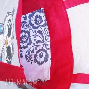 wyjątkowe na zakupy eko ręcznie malowana ekotorba-sowa