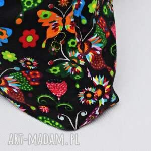 Uszyciuch Torba na zakupy shopperka ekologiczna zakupowa na ramię bawełniana motyle