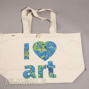 na zakupy irysy torba bawełniana (duża) i love art