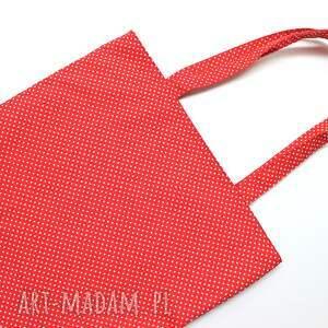 niekonwencjonalne pakowna torba bawełniana - kropeczki
