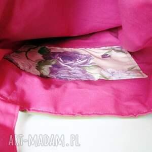 różowe na zakupy eko torba bawełniana z ręcznie wykonaną