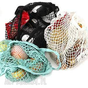 trendy eko torba na zakupy siatka bawełniana