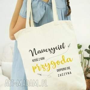 wyraziste shopperka torba eko na zakupy dla nauczyciela