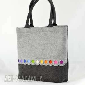 oryginalne na zakupy filc torba filcowa - xl z kolorowymi