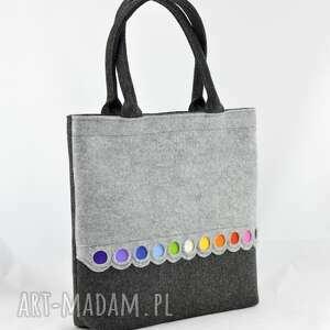kolorowa na zakupy torba filcowa - xl z kolorowymi