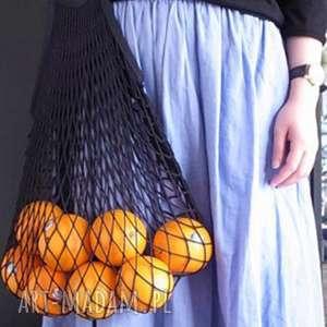paryżanka torba na zakupy siatka bawełniana