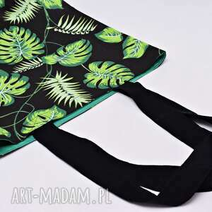 hand-made na zakupy torba shopperka liście