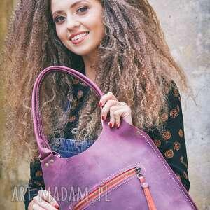 fioletowe wygodna torebka torba ręcznie wykonana mała ladybuq