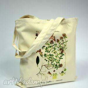 handmade na zakupy torba tyminanek - płócienna