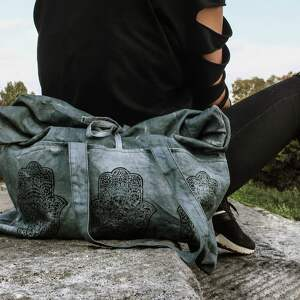 unikatowe surowy torebka organiczna hamsa